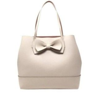 Kade Spade Rose Nut Pink Scallop Tote Purse Bow